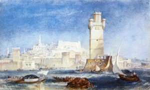 "Joseph Mallord William Turner - ""Rhodes (for Lord Byron''s Works'"")'"""""