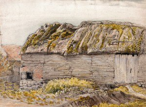 Samuel Palmer - A Barn with a Mossy Roof