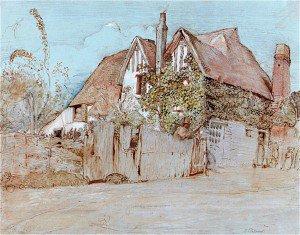 Samuel Palmer - Ivy Cottage, Shoreham
