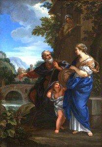 Ciro Ferri - Abraham Expelling Hagar and Ishmael