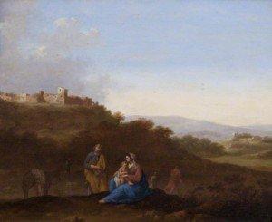 Cornelis van Poelenburgh - Landscape with the Rest on the Flight into Egypt