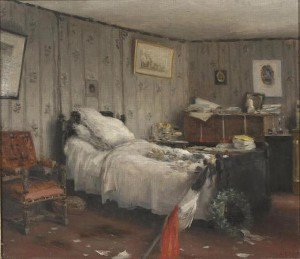 Jean-Charles Cazin - Bedroom, Mortuary of Leon Gambetta