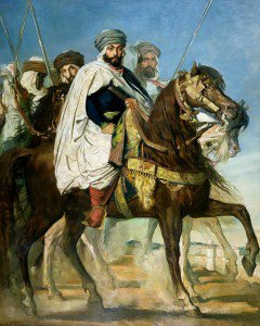 Théodore Chassériau - The Caliph of Constantine Ali-Hamed Followed by his Escort
