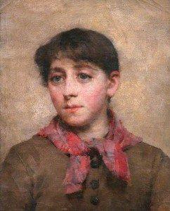 Elizabeth Stanhope Forbes - A Newlyn Maid