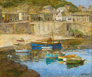 Harold Harvey - Mousehole Harbour