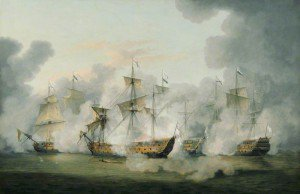 Thomas Luny - The Battle of Martinique, 17 April 1780